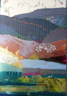 Collaged moorland landscape