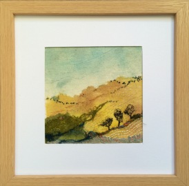 Yellow hills - collaged landscape